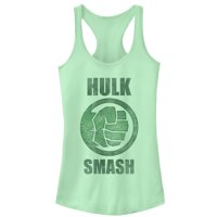 Marvel Juniors' Hulk Smash Racerback Tank Top