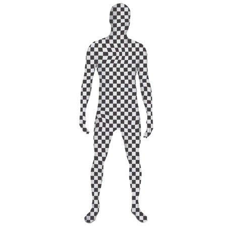 SecondSkin Full Body Spandex/Lycra Suit (S, Checker