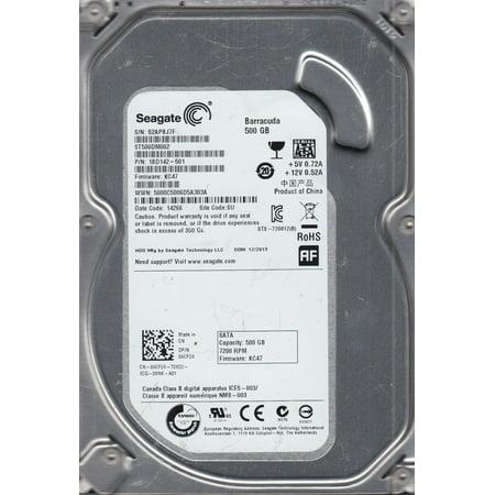 ST500DM002, S2A, SU, PN 1BD142-501, FW KC47, Seagate 500GB SATA 3.5 Hard Drive