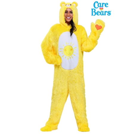 Care Bears Adult Classic Funshine Bear Costume](Teddy Bear Costume Adults)