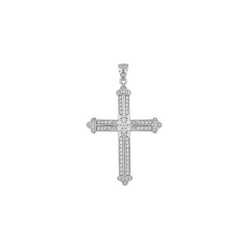 Doma Jewellery MAS02081 Sterling Silver Religious Pendant with CZ