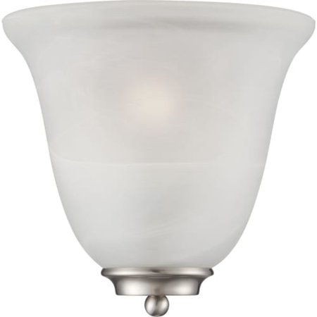 Traditional Wall Sconce in Brushed Nickel Finish Brushed Nickel Finish Sconce