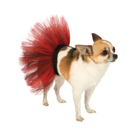 Medium Large Black Red Halloween Ballet Dancer Tutu Skirt For Pet Dog