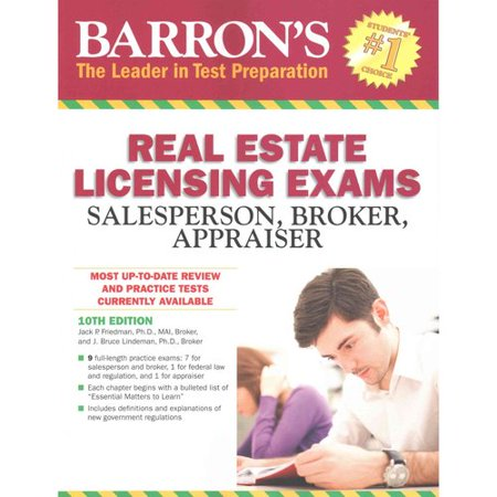 Barrons Real Estate Licensing Exams  Salesperson  Broker  Appraiser