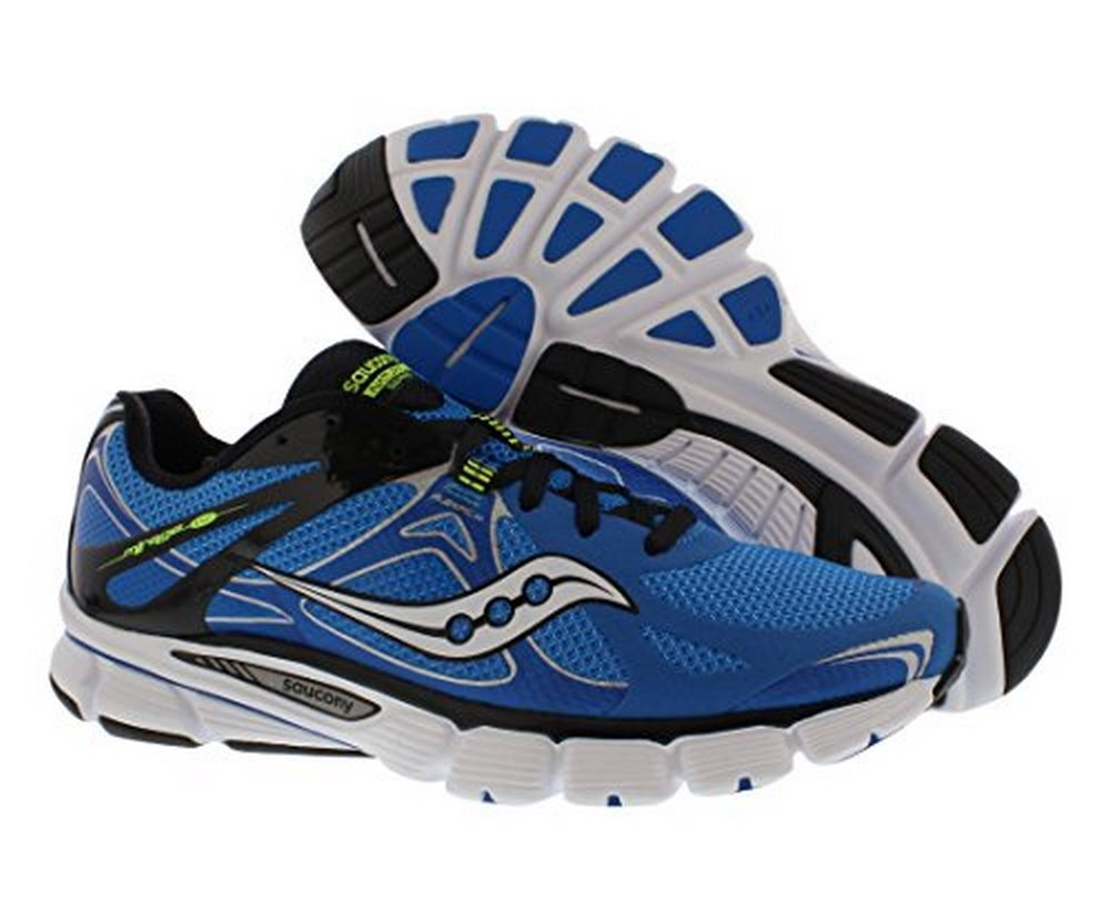 Saucony Men's Mirage 4 Running Shoe,Blue Black Citron,7 M US by