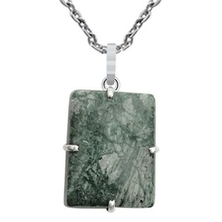 Ocean Jasper Stone - 70 Ct. Ocean Jasper Stone Stylish Pendant 925 Sterling Silver By Orchid Jewelry