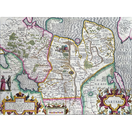 Trademark Art Mercator's Atlas 'Map of Tartaria, 1595' Canvas Art