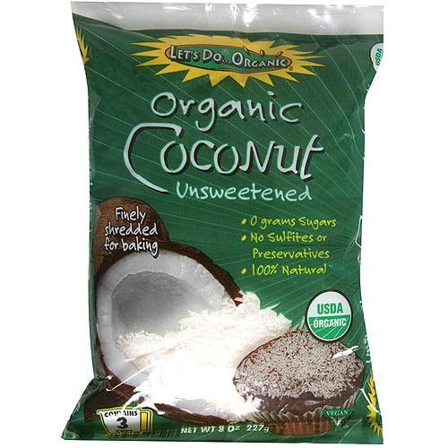 Let's Do...Organic Shredded Coconut, 8 oz (Pack of 12)