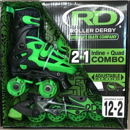 Roller Derby Boys 2-in-1 Skates (12-2)