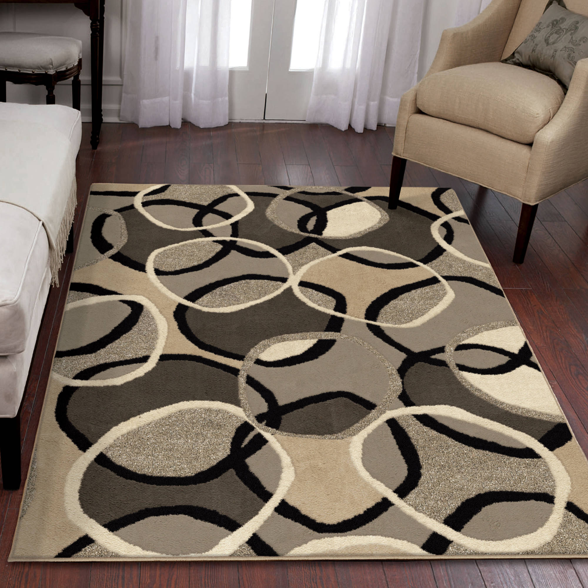 Elegant Orian Rugs Overlap Multi Colored Area Rug