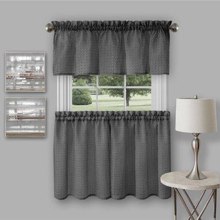 Richmond window kitchen curtain tier pair and valance set - Kitchen curtains walmart ...