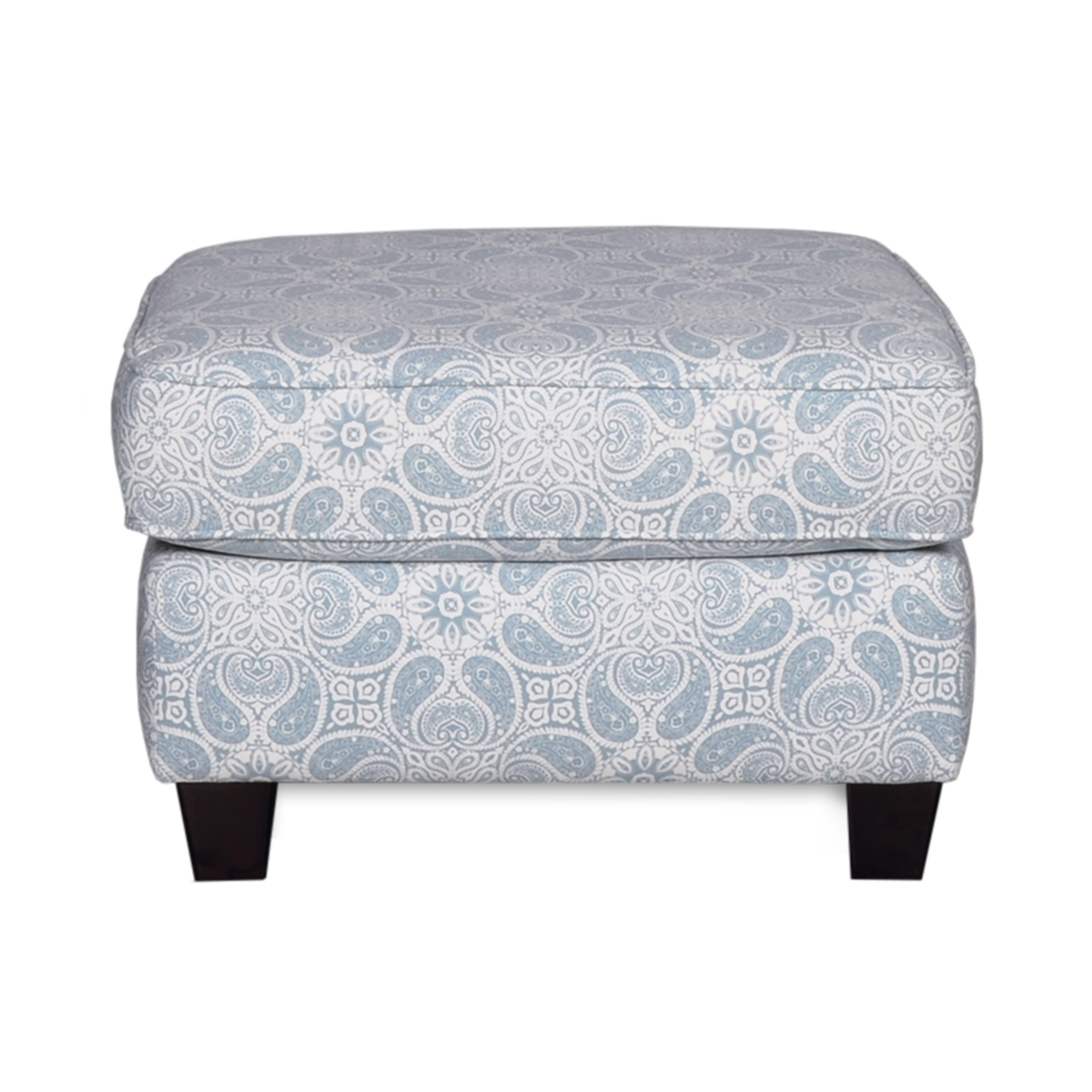 Living Room Ottoman - Upholstered Fabric|Contemporary Casual Accent Design to Match Armchair, Loveseat, or Sofa Couch