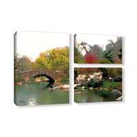 'Saturday Central Park' 3 Piece Gallery Wrapped Canvas Art Print Flag Set, 24x36