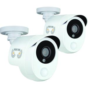 Night Owl CAM-2PK-PIR10W 1080p Bullet Cameras, 2-Pack