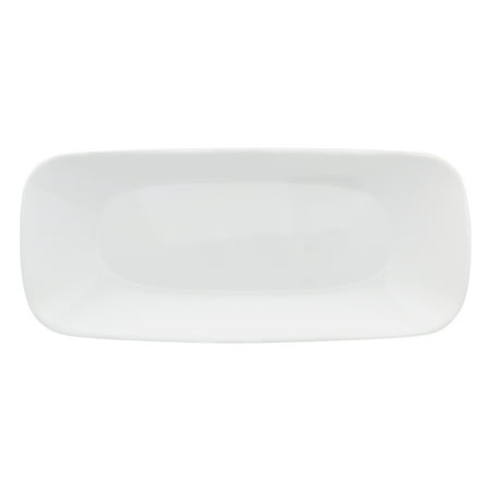 "Corelle 10.5"" Pure White Square Serving Tray, 1 Each"