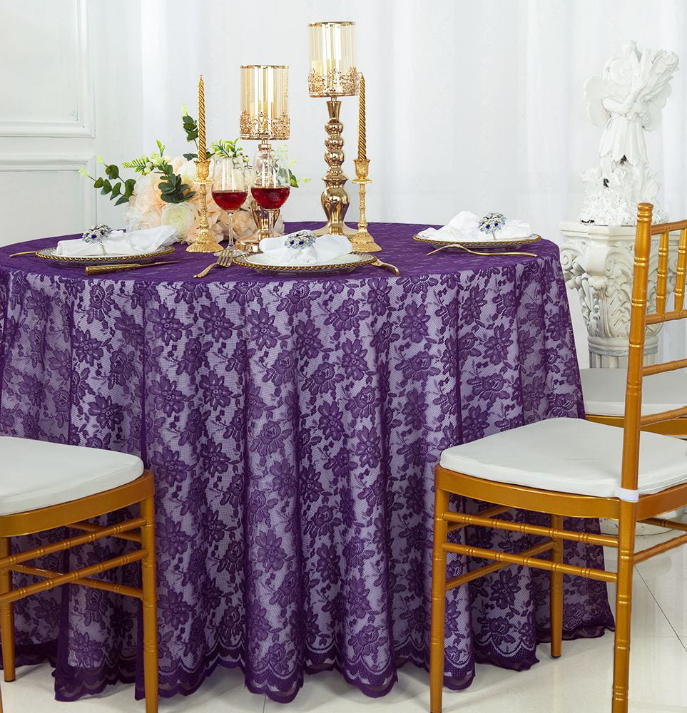 Wedding Linens Inc 108 Round Lace Table Overlays Lace Tablecloths Lace Table Overlay Linens Lace Table Toppers For Wedding Decorations Events Banquet Party Supplies 1pc Black Walmart Com Walmart Com