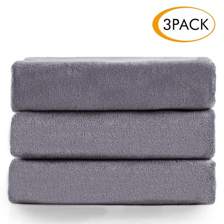 (100% Microfiber Bath Towel Set 3 Pack(27