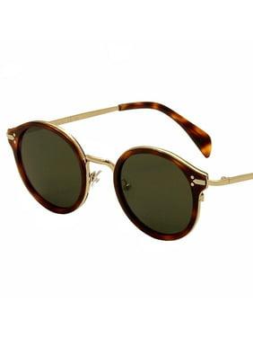 408d36cff7687 Product Image Celine Women s CL 41082S 41082 S 3UA 1E Havana Gold Fashion  Sunglasses 46mm