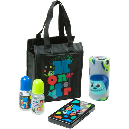 Disney Monsters Inc Diaper Bag Gift Set Black