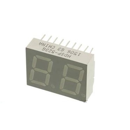 10X Avago Technologies-Hdsp-523G-Display, Seven Segment, 14.2Mm, Green