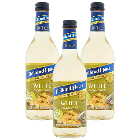 (3 Pack) Holland House White Cooking Wine, 16 oz