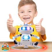 Kids Toys Electronic Walking Dancing Robot Toy with Music, LED Lights - Toddler Toys - Best Gift for Boys and Girls 3 Years Old