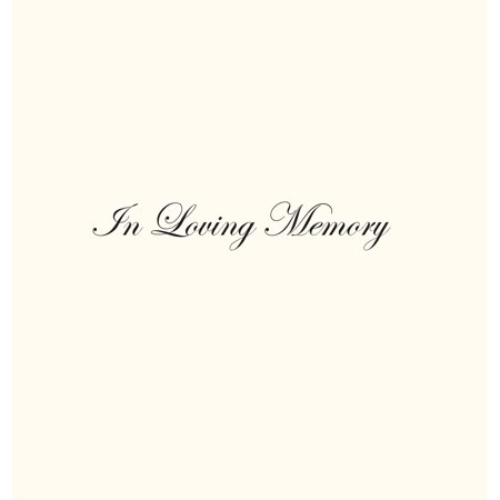 True Love Guest Book - In Loving Memory Funeral Guest Book, Celebration of Life, Wake, Loss, Memorial Service, Condolence Book, Church, Funeral Home, Thoughts and in Memory Guest Book (Hardback) (Hardcover)