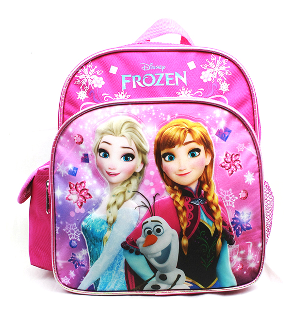 Mini Backpack - Disney - Frozen - Elsa Olaf & Anna Pink New A08150PK