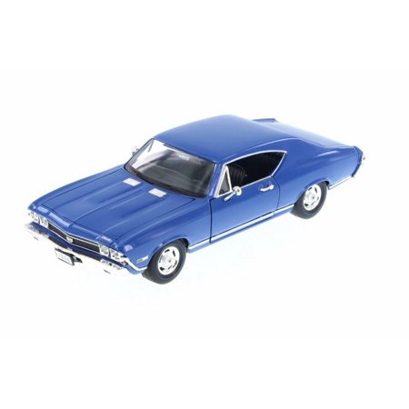 1968 1972 Chevelle (1968 Chevy Chevelle SS396 , Blue - Welly 29397 - 1/24 Scale Diecast Model Toy Car (Brand New, but NOT IN)
