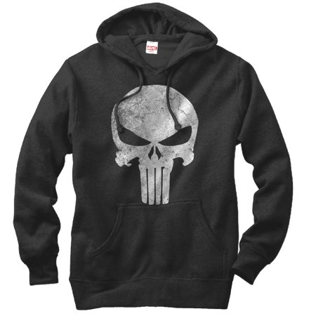 Marvel Punisher Retro Skull Symbol Mens Graphic Lightweight Hoodie