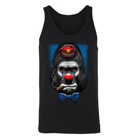 Gorilla Clown Smoking Cigar Men's Tank Top Funny Halloween 2017 Shirts Black Small