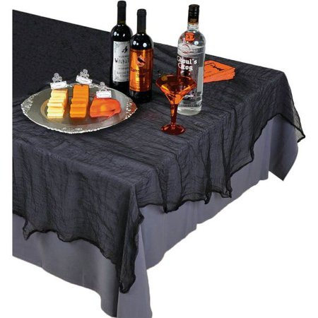 BLACK CHEESECLOTH TABLE COVER (EACH) ()