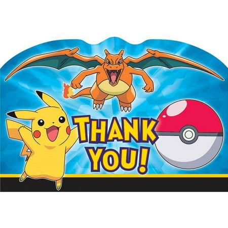 Pokemon Thank-You Note Postcards - Pokemon Thank You