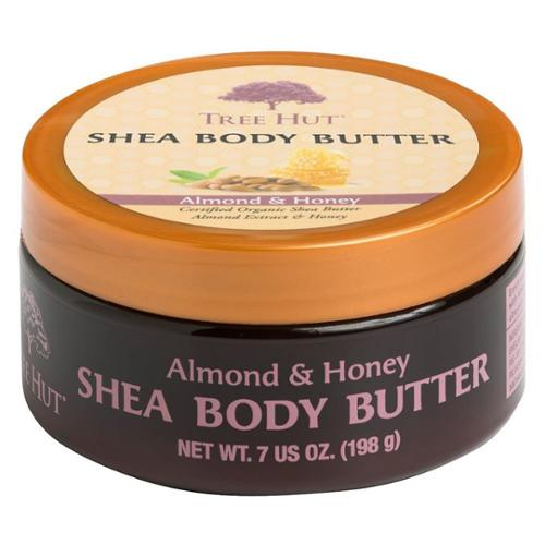 Tree Hut Shea Body Butter, Almond & Honey 7 oz (Pack of 2)