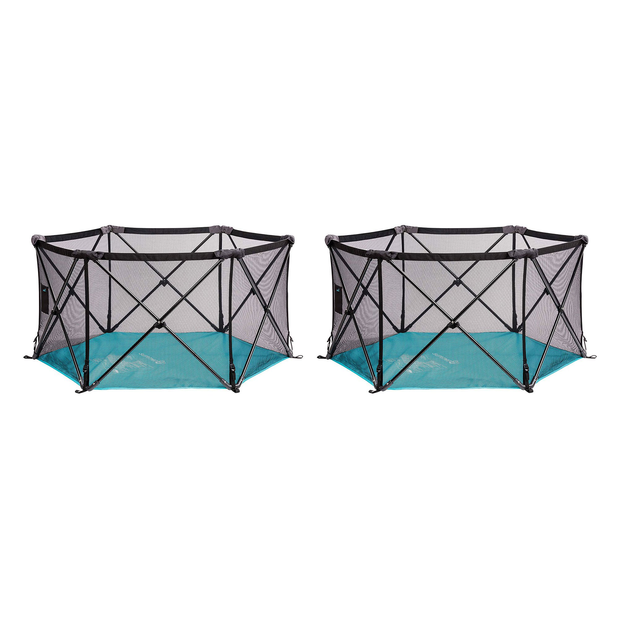 Summer Infant Lightweight Pop n Play Portable Play Yard, Turquoise (2 Pack)