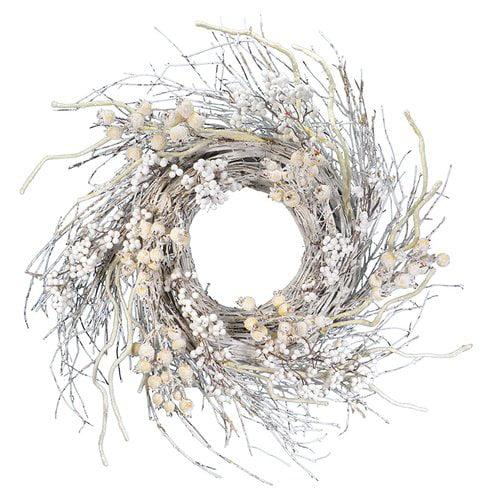 August Grove Winter Berry Wreath