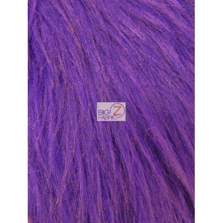 Faux Fake Fur Solid Gorilla Animal Long Pile Fabric / Purple / Sold By The - Purple Gorilla