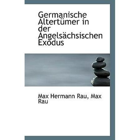 Germanische Altert Mer In Der Angels Chsischen Exodus