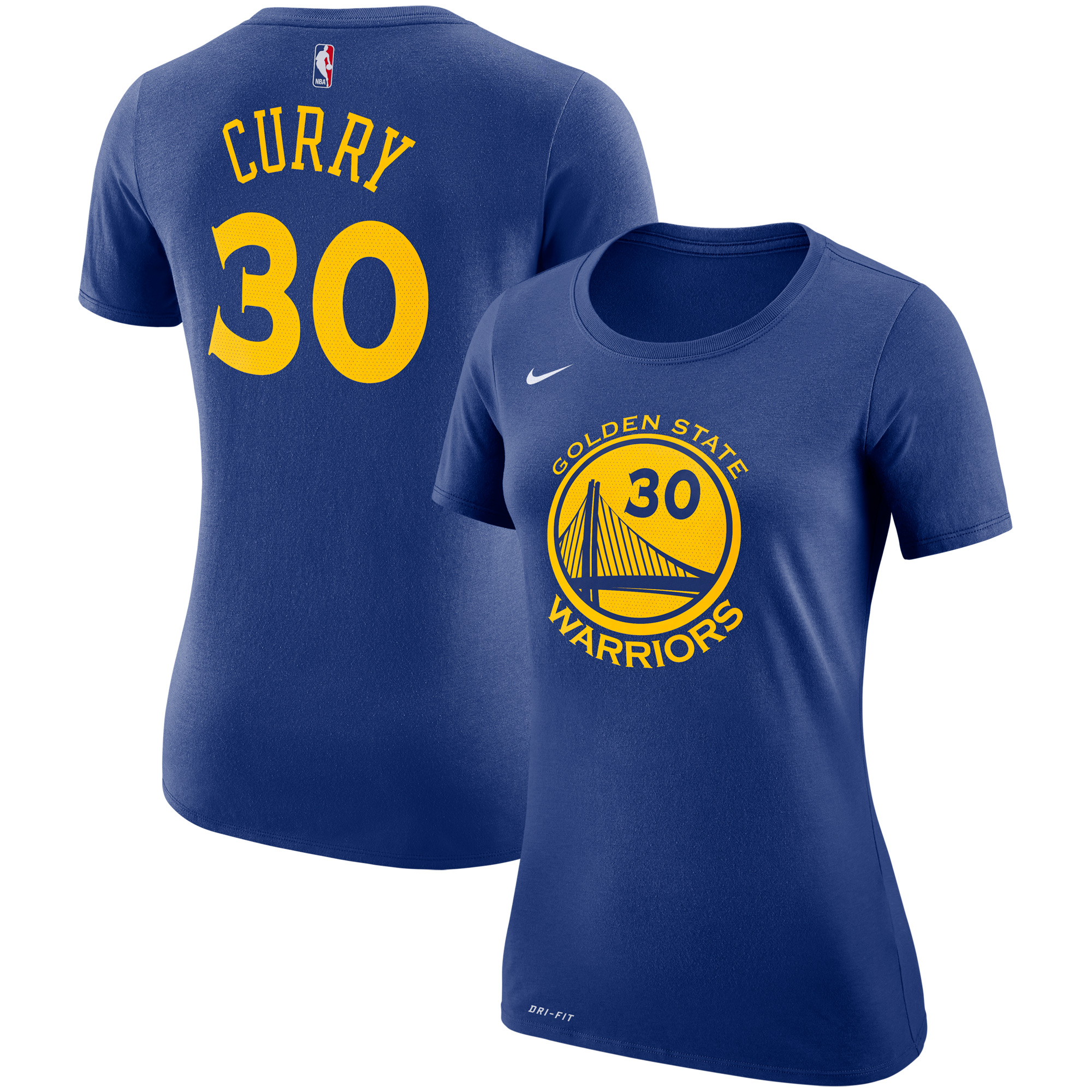 Stephen Curry Golden State Warriors Nike Women's Name & Number Performance T-Shirt - Royal