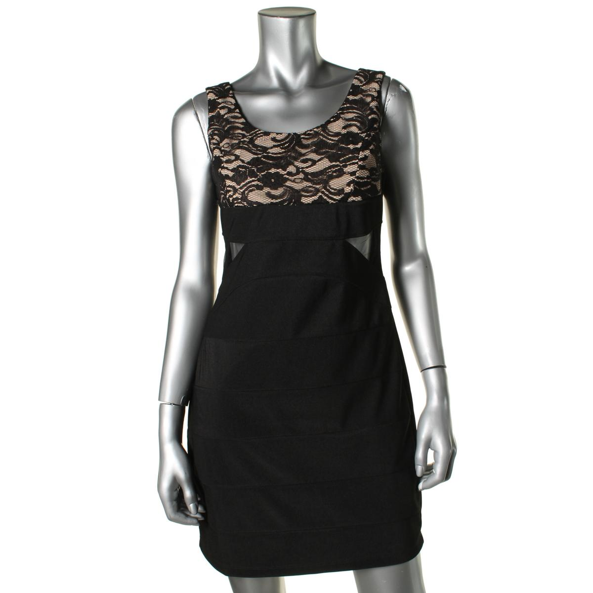 Ruby Rox Womens Lace Sleeveless Cocktail Dress