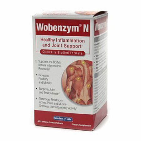 Garden of Life Wobenzym N Inflammation and Joint Support Tablets, 400 (Wobenzym N 800 Best Price)