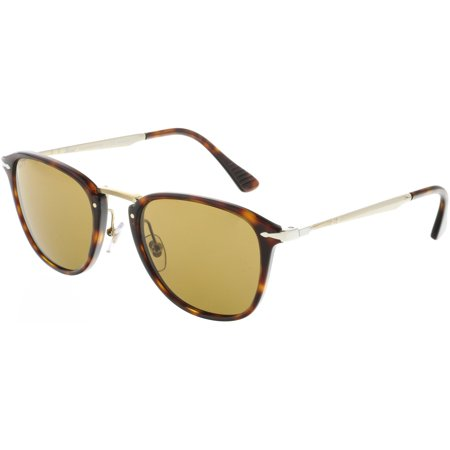 Persol Men's Polarized PO3165S-24/57-52 Brown Rectangle (Persol Polarized)