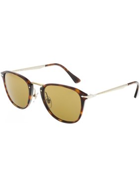 739445095dfc2 Product Image Persol Men s Polarized PO3165S-24 57-52 Brown Rectangle  Sunglasses
