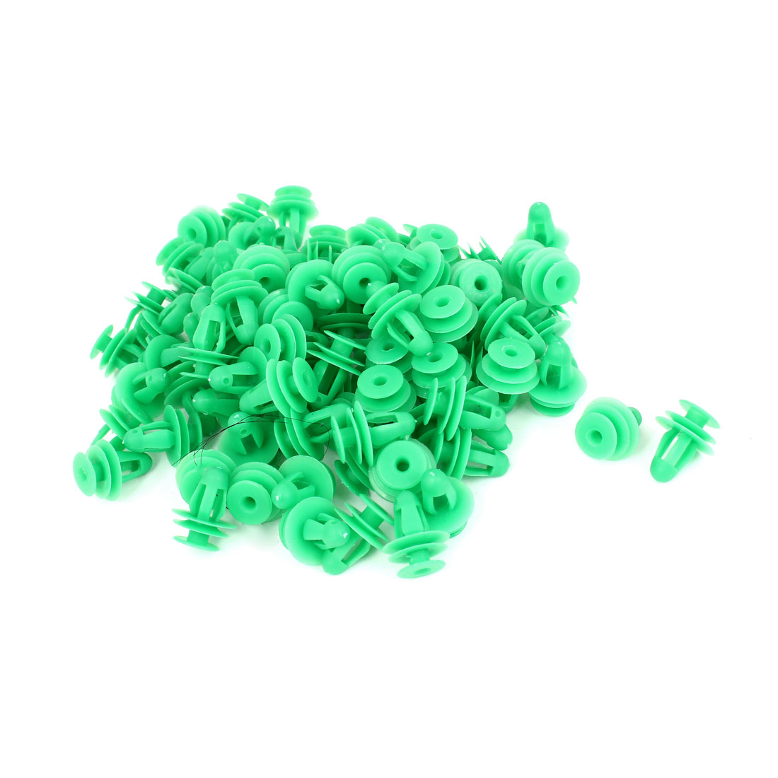 Unique Bargains Truck Car Door 9mm Hole Plastic Rivet Fastener Retainer Clip Green 100 Pcs