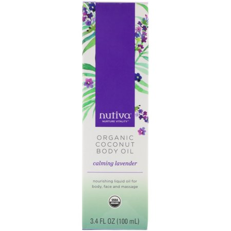 Nutiva  Organic Coconut Body Oil  Calming Lavender  3 4 fl oz  100 ml