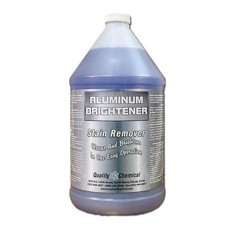 Aluminum Cleaner & Brightener & Restorer - 1 gallon (128 (Best Over The Counter Skin Brightener)