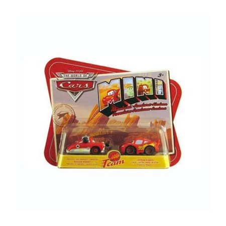 Disney Pixar Cars 2 Pack Fabulous Hudson Hornet & Lightning Mcqueen .