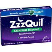 ZzzQuil Nighttime Sleep-Aid, LiquiCaps 24 ea (Pack of 6)