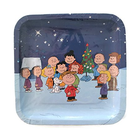 Charlie Brown Christmas Decorating Ideas (Peanuts Gang Charlie Brown Snoopy Christmas Square 9