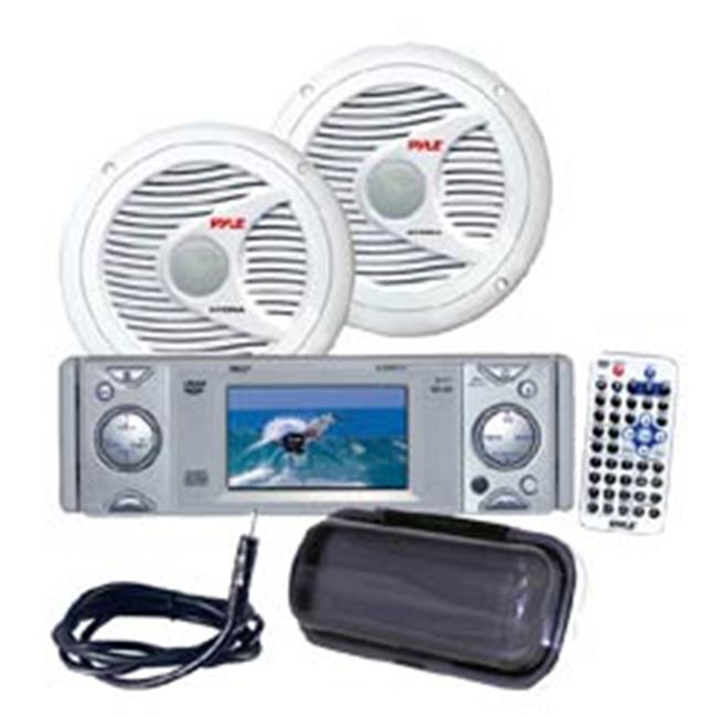 In-Dash Marine CD-MP3 Player with Full Face Detachable Panel